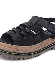 Women's Shoes  Flat Heel Heels/Comfort Sandals Outdoor Black/White