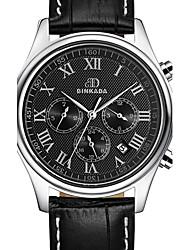 BINKADA Men's Waterproof Dial Leather Band Automatic Mechanical wrist Watch(Assorted Colors)