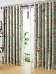 Two Panels Chinese Style Is Contracted Fashion Reactive Dyeing Window Shade