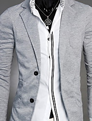 Men's Long Sleeve Regular Blazer Others Pure