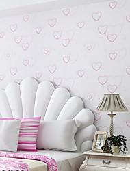 contemporary art deco wallpaper 3d parede coração bonito papel de parede que cobre a arte da parede não-tecido