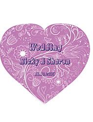 Personalized Wedding Tags Address Labels Envelope Sticker Stripe Heart Shaped Pattern Of Filmed Paper