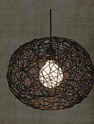 Pendant Lights Nest Brown La canne compose de travail manuel moderne