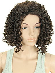 Women Wigs Short Curly Synthetic African American Fake Hair Wigs