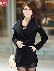 Muairen®Women'S Fashion Large Lapel Wool Coat Waist Coat
