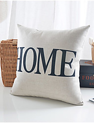 Modern Home Pattern Cotton/Linen Decorative Pillow Cover