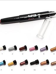1pc ubub® hermosa pluma eyeshaow (12 colores seleccionables)