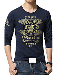 Men's Fashion Personalized Printing Slim Fit Long-Sleeve T-Shirt