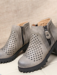 BKBG Women's Shoes Black/Brown/Grey Chunky Heel 6-9cm Casual (Leather)❤ Once you fall in love ❤