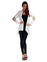 Women's 2015 Fashion Fashion Pure Color Cardigan Spandex Coat