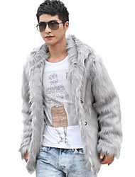 Men Faux Fur Outerwear , Lined