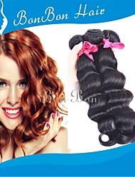 cabelo humano tecelagem brasileira 4pcs onda profundas