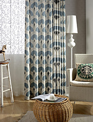 Country Curtains® One Panel Geometry Cotton Linen Printing Curtain Drape