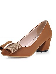 Women's  Chunky Heel Pointed Toe/Closed Toe Pumps/Heels