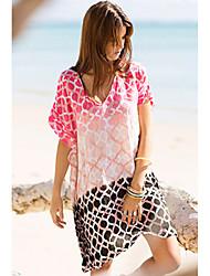 ropa de playa impresión digital ocasional de las mujeres