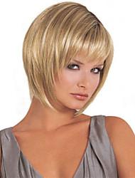 mulheres moda senhora cabelo sintético curto perucas mix loira peruca de cabelo