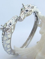 Unique Giraffe Deer Bracelet Bangle With Clear Rhinestone crystals