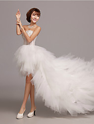 A-line Wedding Dress-Asymmetrical Sweetheart Tulle