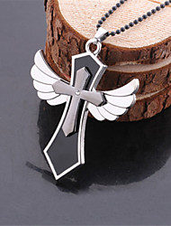 Women's Fashion Jewelry Casual Alloy Cosplay Punk Holy Cross Wing Pendant Necklace