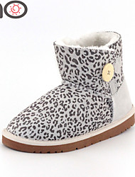MO One Button Snow Boots Cowhide Leather Sexy Women Boots Winter 2015 New  Luxury Women Winter Boots