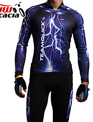 ACACIA® Cycling Jersey with Tights Unisex Long Sleeve BikeBreathable / Anatomic Design / Dust Proof / Static-free / Lightweight Materials