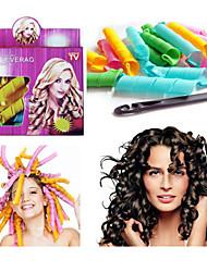 18pcs cabelo leverag maglc curlers Curlformers