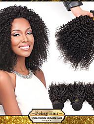 Mongolian Virgin kinky curly Hair Weaving Natural Black 8-30 inch 1pc lot 100G Per Bundle