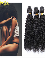 3 Pcs/Lot Large Stock 8A Pure Brazilian Virgin Cuticle Hair Weaving Weft Afro Curly Natural Human Hair Wefts
