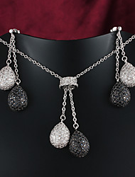 2015 Hot Selling Products Casual Platinum Plated Necklace Wedding jewelry Sets Bridal