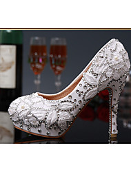 Women's Shoes Leather/Glitter Stiletto Heel Heels/PlatformHeels Wedding/Party & Evening/Dress WhiteTXF-SHOES0004