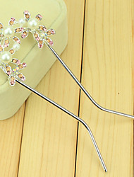 South Korean Hair Combs The Bride U-Shaped Clip Hairpin Of Three Little Flower Double Needle Inserted Comb  Twist