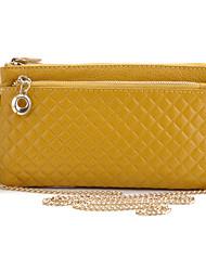 Women Casual Cowhide Zipper Shoulder Bag/Clutch