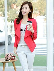 Women's Button/Split Coats & Jackets , Cotton Bodycon/Casual Long Sleeve B.L.S