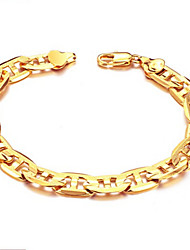 Men Vintage/Casual Bracelet , Other Yellow Gold Plated shine