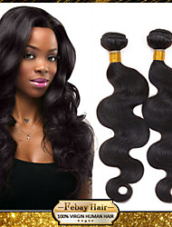 péruvien vierge vague de corps noir naturel 8-30 pouces 1pc / lot 100g par paquet première trame de cheveux non traités