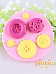 Button Fondant Cake Chocolate Silicone Molds,Decoration Tools Bakeware