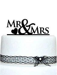 Mr&Mrs Wedding Cake Topper (More Colors)