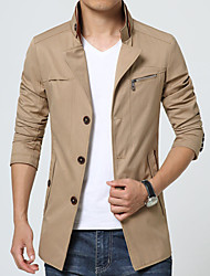 2015 new autumn tide men's casual jacket collar business thin slim youth men's coat.