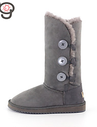 MO Twinface Sheepskin Suede lined Boots Winter Boots Classic Snow Boots Keep Warm Slip-On Women's Boots