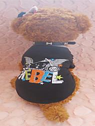 T-shirt für Hunde Schwarz Sommer XS / S / M Baumwolle