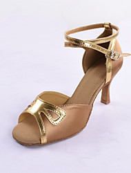 Satin/Leatherette Upper Latin Dance Shoes for Women More Colors