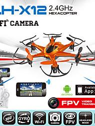 novos brinquedos 2015 hexacopter zangão chumbo honra lh-x12wf 2.4ghz rc wi-fi zangão 6 motores multi-eixo com câmera