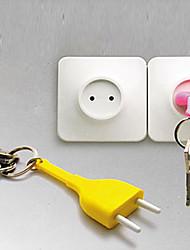 Socket Unplug Keyring Novelty Keychain Home Decor (Random Color)