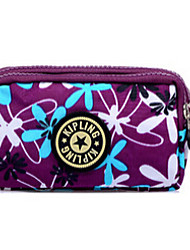 Women 's Nylon Cosmetic Bag - Pink/Purple/Blue/Brown/Black