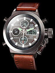 Men's Multifunctional Analog Digital Wrist Watches Luxury Calendar 50M Waterproof Military Sports Watches Fashion Wrist Watch Cool Watch Unique Watch