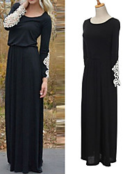 Women's Round Dresses , Chiffon Sexy/Beach/Casual/Cute/Party Long Sleeve Cathy