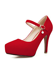 Women's Shoes  Stiletto Heel Basic Pump Pumps/Heels Office & Career/Dress/Casual Black/Red