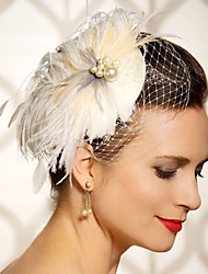 Hand Made Wedding Feather Hair Clip Fascinator Headpieces Fascinators 049