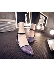 Zapatos de mujer - Tacón Plano - Comfort / Puntiagudos - Sandalias - Boda / Oficina y Trabajo / Vestido / Fiesta y Noche -Encaje /
