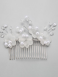 Women's Flower Girl's Crystal Alloy Imitation Pearl Headpiece-Wedding Hair Combs 1 Piece